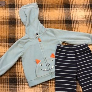 24 Month Monster Hoodie, Onesie and Pant Set